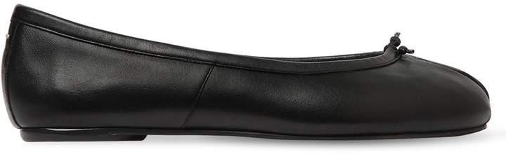 Maison Margiela 10mm Tabi Leather Ballerina Flats