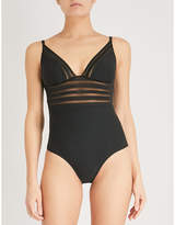 Heidi Klum Intimates Nightshade stretch-mesh body