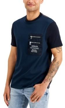 AX Armani Exchange Men's Colorblocked Zip-Pocket T-Shirt