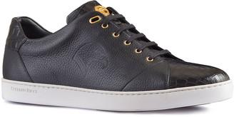 Stefano Ricci Men's Crocodile Leather Low-Top Sneakers