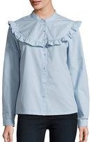 Vero Moda Long Sleeve Ruffled Button-Front Shirt