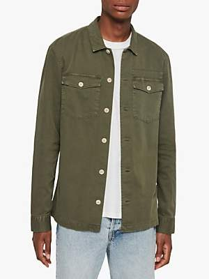 AllSaints Slim Fit Spotter Military Shirt