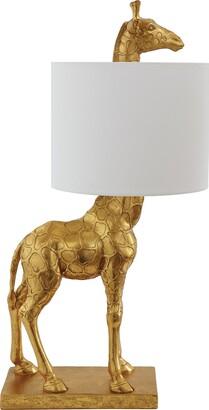 Creative Co-op DA7565 Giraffe Lamp with Linen Shade