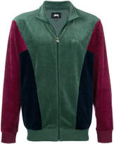 Stussy colour-block zipped jacket