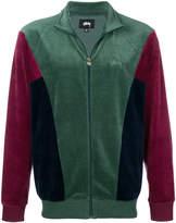 Stussy colour-block zipped jacket