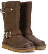 UGG buckled boots - kids - Leather/Sheep Skin/Shearling/rubber - 27