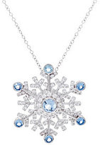 Hallmark Sterling Snowflake Pin Pendant with Chain