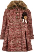 Monsoon Heather Tweed Coat