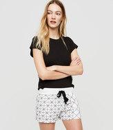 LOFT Lou & Grey Sashiko Brushed Linen Shorts