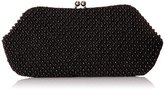 La Regale Fully Beaded Front Pearl Pouch Clutch