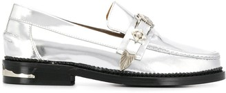 Toga Pulla Round Toe Front Buckle Loafers