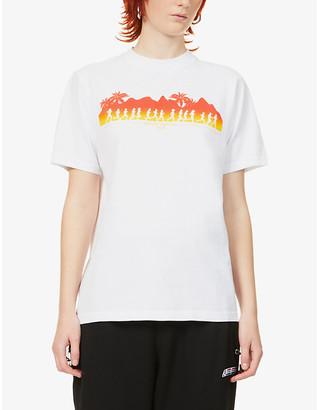 Sporty & Rich Hawaii Run printed cotton-jersey T-shirt