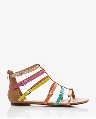 Forever 21 Colorblocked Buckle Gladiator Sandals