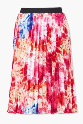 Forever 21 Plus Size Tie-Dye Pleated Skirt