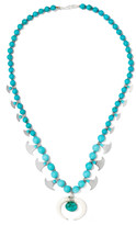 Chan Luu Beaded stone and silver-tone necklace