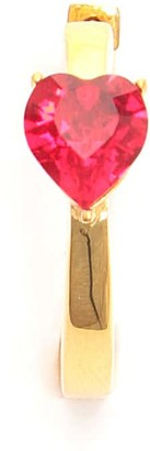 Ambush HEART SOLITAIRE EARRING OS Gold, Red
