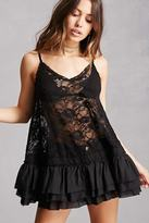 Forever 21 Sheer Chantilly Lace Tunic