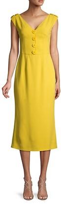 Dolce & Gabbana Sleeveless V-Neck Midi Dress