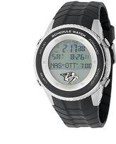Game Time Nashville Predators Silver Tone Digital Schedule Watch - NHL-SW-NAS - Men