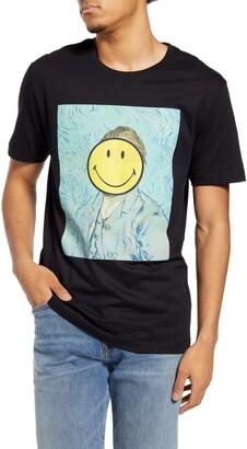 Eleven Paris Van Gogh Smiley Graphic Tee