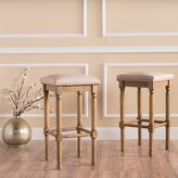 Christopher Knight Home Osvald Studded Fabric Counter Stool (Set of 2)