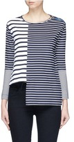Stella McCartney Stripe asymmetric hem T-shirt