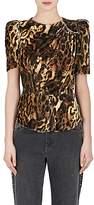 Isabel Marant Women's Udell Leopard-Print Peplum Top