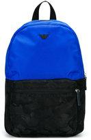 Armani Junior color block backpack