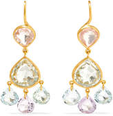 Marie Helene De Taillac Marie-Hélène de Taillac - 18-karat Gold Multi-stone Earrings - one size