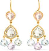Marie Helene De Taillac Marie-Hélène de Taillac - 18-karat Gold Multi-stone Earrings - one size