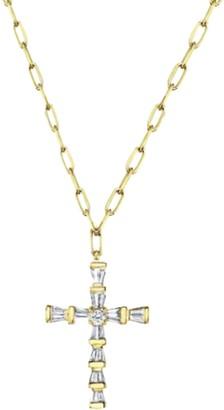 Shay Mini Diamond Cross Necklace