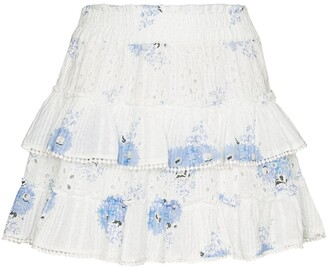 LoveShackFancy Bliss broderie anglaise mini skirt