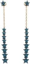Wild Hearts Turquoise Multi Drop Star Earrings Gold