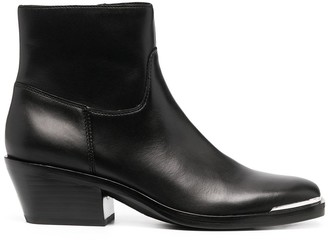 Ash Zipped Ankle Boots