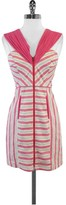 Frock! By Tracy Reese Pink & Blue Striped Linen Dress
