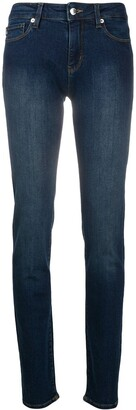 Love Moschino Rhinestone-Embellished Slim-Fit Jeans