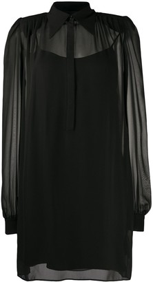 John Richmond Silk Belted Mini Dress