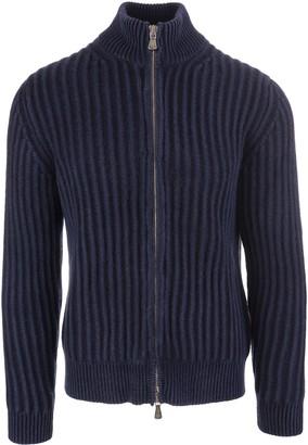 Fedeli Blue Open Kos Pullover Vintage