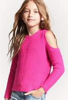 FOREVER 21 girls Girls Fuzzy Knit Sweater (Kids)