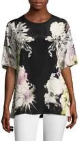 Roberto Cavalli Women's Silk Floral Print Tee