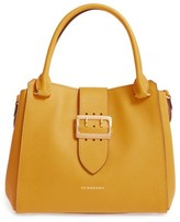 Burberry Medium Calfskin Leather Tote - Yellow