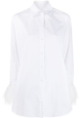 Valentino Feather Cuffs Shirt