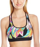 Trina Turk Recreation Women's Copa Cabana Macrame Back Sports Bra