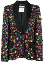 Moschino floral embroidered blazer