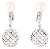 Faraone Mennella 18K Pearl & Diamond Drop Earrings