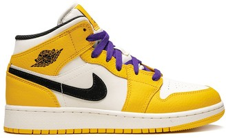 Nike Kids Air Jordan 1 Retro Mid SE GS Lakers