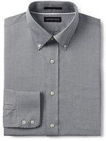 Classic Men's Tailored Fit No Iron Royal Oxford Buttondown Dress Shirt-Fresh Blue Windowpane
