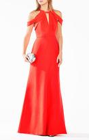 BCBGMAXAZRIA Kathya Draped Cutout Gown