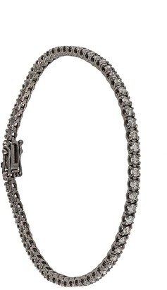 Eva Fehren 18kt white gold 2mm Line diamond bracelet