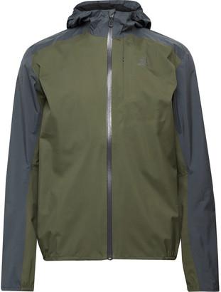 Salomon Bonatti Colour-Block Packable Advanceskin Dry Hooded Jacket